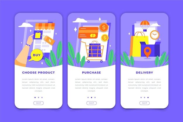 App di acquisto online per telefono cellulare