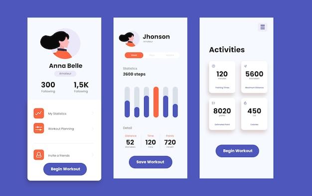 App mobile tracciante allenamento quotidiano