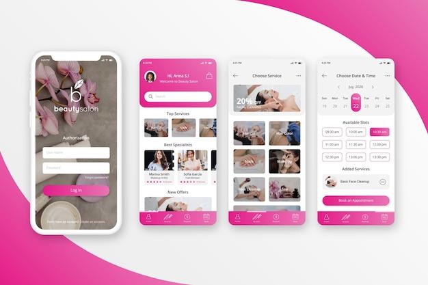 App per la prenotazione di un salone di bellezza