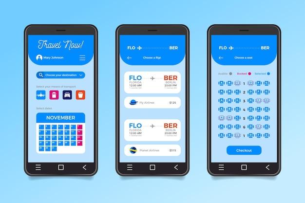 App per la prenotazione di viaggi