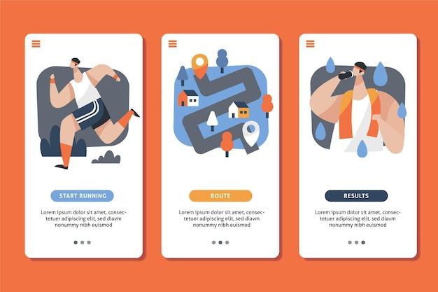 App tracker di allenamento per telefoni cellulari