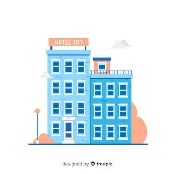 Appartamento edificio sullo sfondo