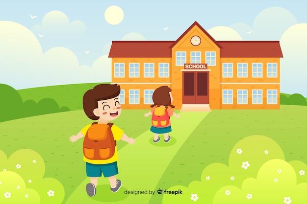 Appartamento torna a scuola sfondo