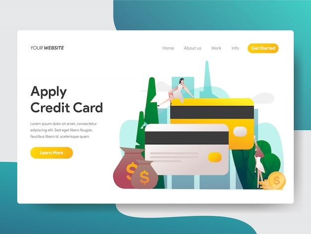 Applicare la carta di credito per la pagina del sito
