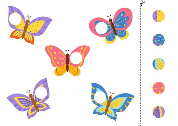 Applicazione con simpatiche farfalle colorate. gioco taglia e incolla.