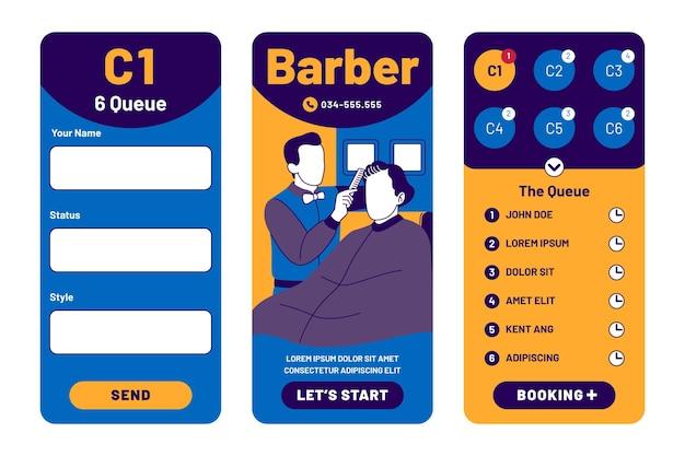 Applicazione di prenotazione del negozio di barbiere