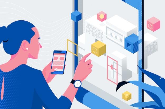 Applicazione di progettazione web designer per telefoni cellulari