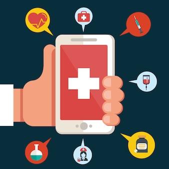 Applicazione di salute su uno smartphone