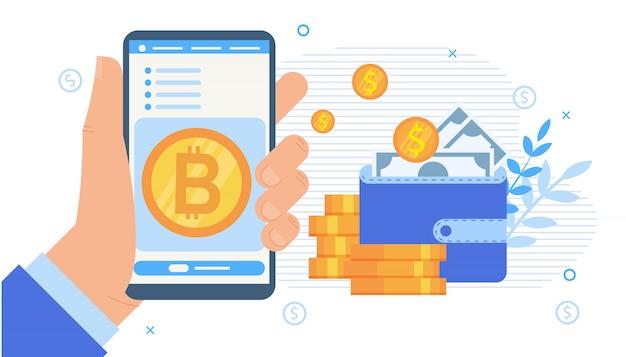 Applicazione mobile di borsa di criptovaluta
