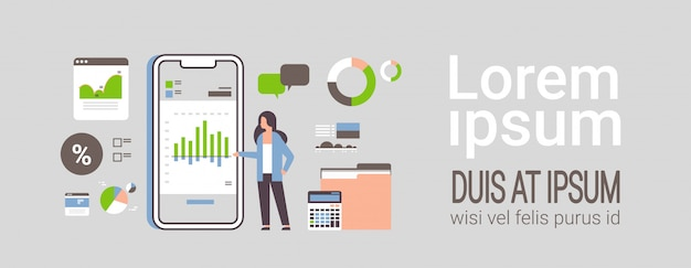 Applicazione mobile di finanza di lavoro imprenditrice