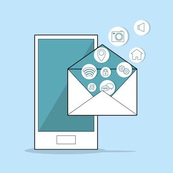 Applicazione mobile ed email per smartphone