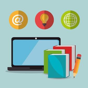 Apprendimento elettronico con computer portatile