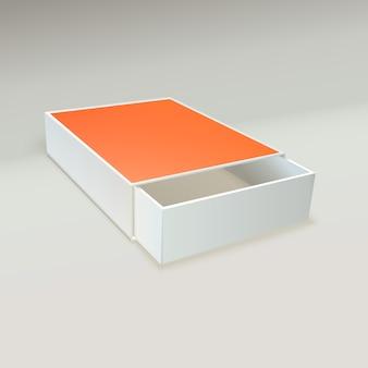 Apri la scatola di fiammiferi con un'etichetta vuota.