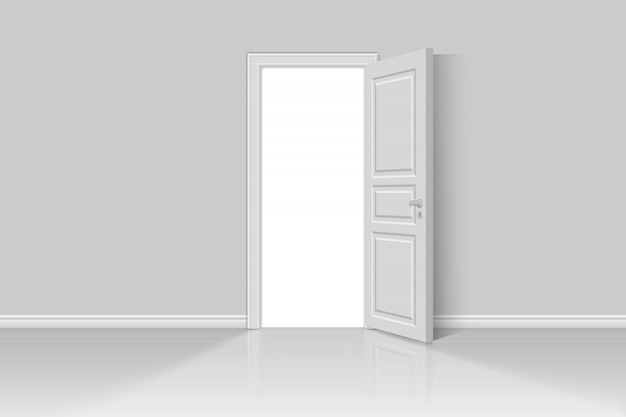 Apri una porta realistica