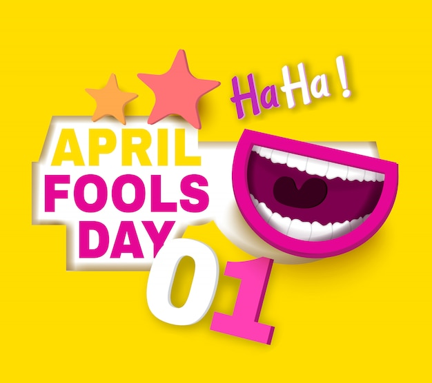 April's fool 's day cartoon style