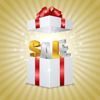 Aprire confezione regalo realistico con lettere