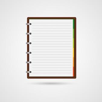 Aprire un quaderno vuoto e una nota di promemoria.