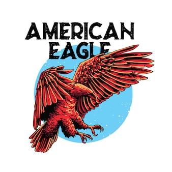 Aquila americana illustrazione