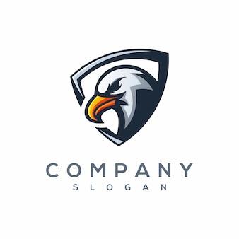 Aquila e sport logo vettoriale