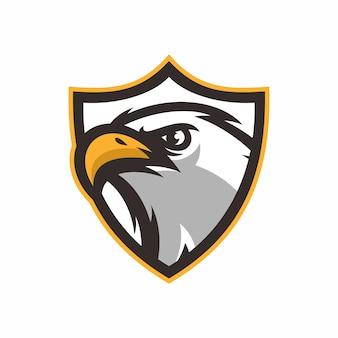 Aquila - mascotte dell'illustrazione dell'icona di vettore
