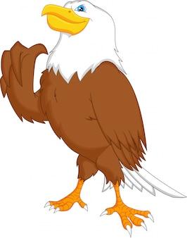 Aquila pollice in alto cartone animato