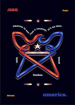 Aquila simbolo stella americana usa veterani giorno giorno dell'indipendenza usa
