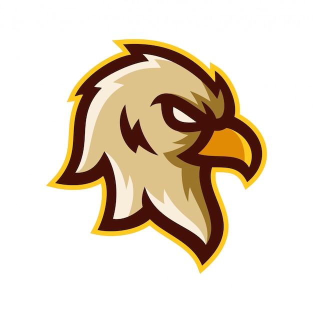 Aquila testa logo modello illustrazione vettoriale