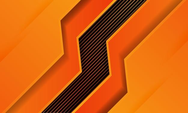 Arancio astratto con sfondo di linea, carta da parati futuristica moderna, struttura solida, sfondi futuristici profondi.