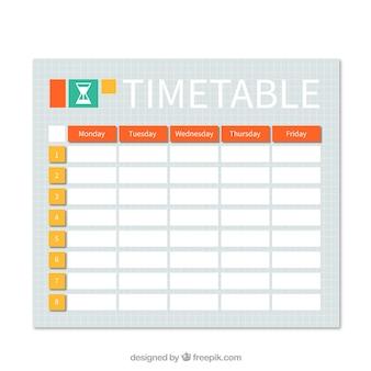 Arancio pratico e calendario gialla