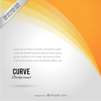 Arancione curva di sfondo