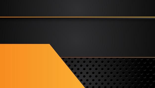 Arancione giallo e nero sfondo astratto business. .