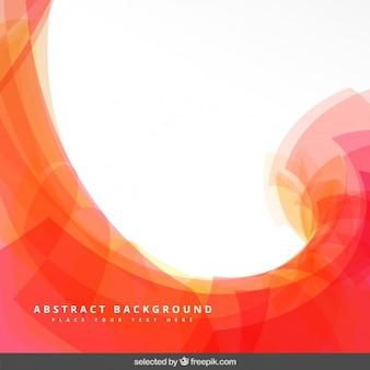 Arancione sfondo astratto con onda