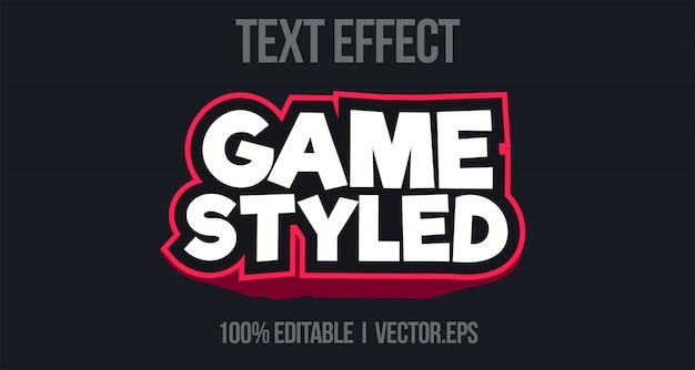 Arcade 3d grassetto gioco effetto testo stile grafico strato stile carattere stayle