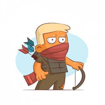Archer con la bocca coperta