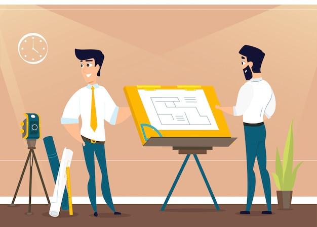Architects sta lavorando al progetto nei locali