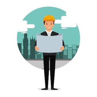 Architetto cercando blueprint worker