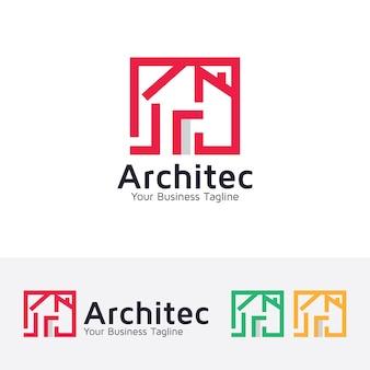 Architetto modello di casa logo