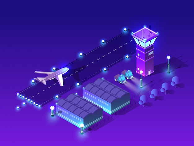 Architettura delle luci notturne ultraviolette