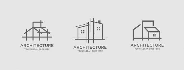 Architettura logo template vettoriale