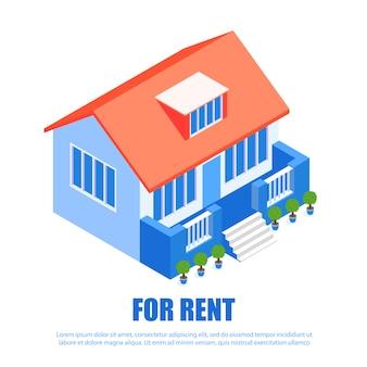Architettura moderna dell'abitazione locativa. servizio immobiliare