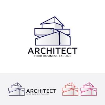 Architettura tema logo aziendale