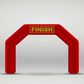 Arco di traguardo gonfiabile 3d illustrazione vettoriale