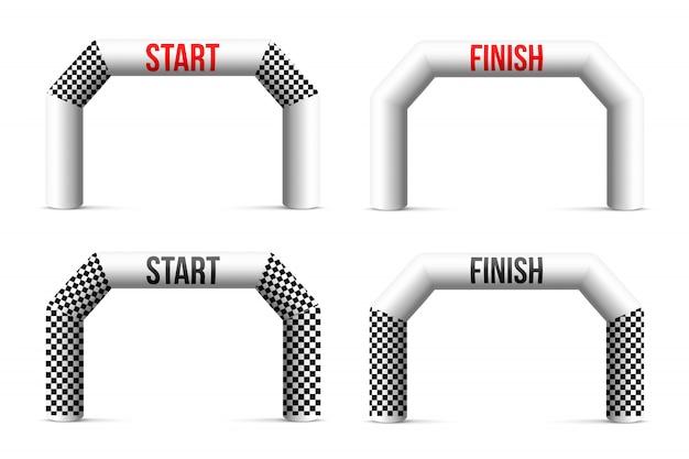 Arco gonfiabile sport finish line