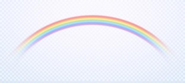 Arcobaleno realistico. i colori variopinti degli arcobaleni del cielo della pioggia e il simbolo gay hanno isolato l'illustrazione
