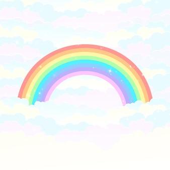 Arcobaleno sopra le nuvole