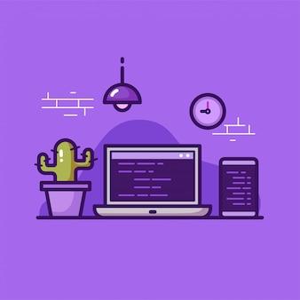Area di lavoro del programmatore su viola