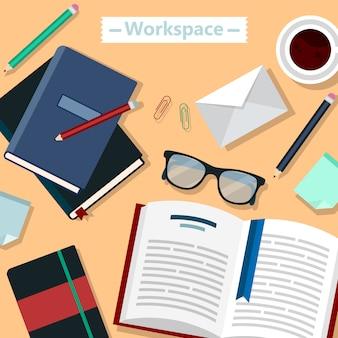Area di lavoro moderna ufficio aziendale