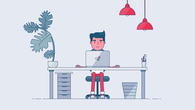 Area di lavoro tech creativa