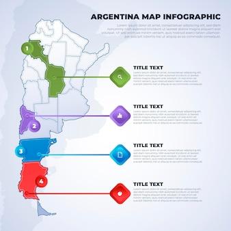 Argentina mappa infografica