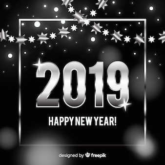 Argento nuovo anno 2019 sfondo